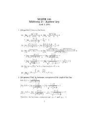 Sample Midterm Exam 2 Solution