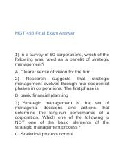 MGT 498 Final Exam Answers.docx
