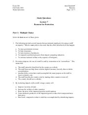 study questions lecture 7