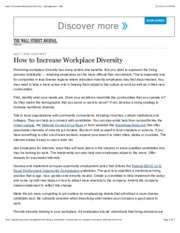 BB #17 How to Increase Workplace Diversity