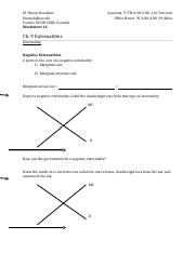 Worksheet 17 Ch. 9 Externalities