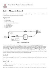 Lab 5 - Magnetic Force 1 [Stony Brook Physics Laboratory Manuals].pdf