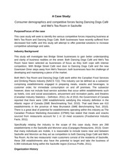 Case Study Research Proposal on Consumer demographics and competitive forces