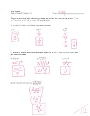 Math 115 Exam 2 Key on Algebra