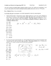 Fall 2011 Final Exam Solutions