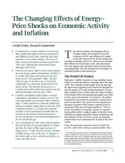 The Changing Effects of Energy Prices on Economic Activity and Inflation