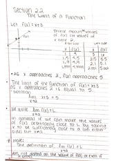 Lecture Notes for Exams 1&2 - Limits and Derivatives