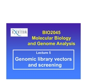 05 Genomic library vectors and screening