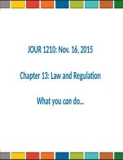 Media Law and Regulation F15.ppt