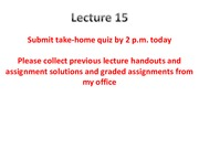 MTE 455 Lecture 15 1