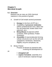Chapter 05 Microbial Growth
