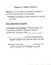 Ch. 3 Notes (BUS G-345; Money, Banking; and Capital Markets; Self)