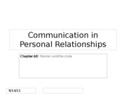 CMN 101 Interpersonal lecture 5 on relationships