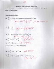 Math 55H Test #1 (Chapters 1-2) Spring 2017 SOLUTIONS