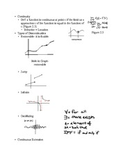 Chapter 2.3- Continuity of Functions