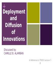 201-7-B-Deployment and Diffusion of Innovation_report