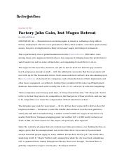 Uchitelle_Factory Jobs Gain but Wages Retreat, NYT.doc