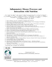 nutrition and inflammation review