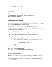 BIEB 126 Clonal Plants Class Notes