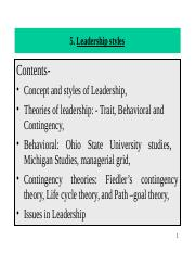 5. Leadeship and Influencing