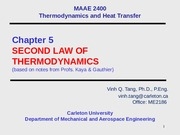 Chap 5 Second Law of Thermodynamics-2014