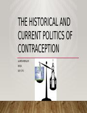 The Historical and Current Politics of Contraception