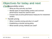 ACCY 302 Transfer Pricing Lecture