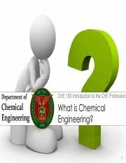 What is Chemical Engineering 1