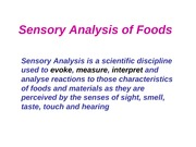 2009 Sensory Analysis of Foods (1)