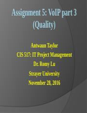 Assignment 5ppt