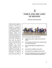 Chapter 3 Forces and The Laws of Motion 130616