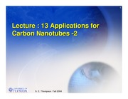 Study Guide 2 on Application of Carbon Nanotubes