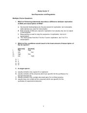 Study Guide 11 - Gene Expression and Regulation.pdf