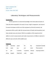 Laboratory Techniques and Measurements (Personal).docx
