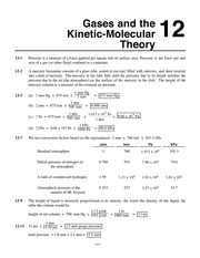 Chemistry by Whitten, Atwood, Morrison Chapter 12 solutions