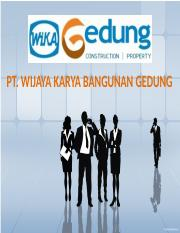 BUSINESS PRESENTATION - WIKA GEDUNG