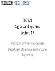 Lecture 17_Signals and Systems_LaplaceTransform