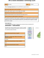 5 Cell Energy Cycle Gizmo.docx - Name Date Student ...