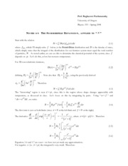 Lecture Notes on the Sommerfeld Expansion