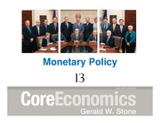 Macroeconomic Principals Chapter 13-1 Monetary Policy