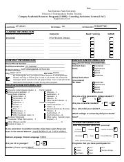 LAC CARP Undergrad Studies Tutoring Registration Form Accessible PDF NEW