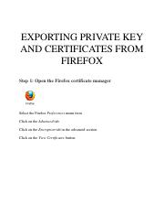 2. Exporting private key and certificates from Firefox.pdf
