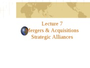 Lecture 7 M&As and Alliances