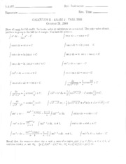 2008 Fall Exam #2 Solutions