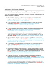 RES 351 Week 4 Individual Understanding Business Research Terms and Concepts Part 2