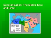 Decolonization Middle East and Israel