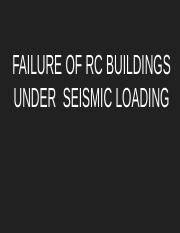 FAILURE OF BUILDINGS UNDER  SEISMIC LOADING