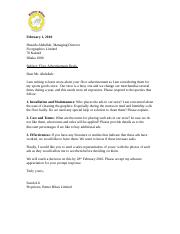 1 pages letter requesting information better bikesdoc
