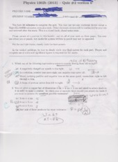 Physics 1302B Quiz 2 2013 Version 6