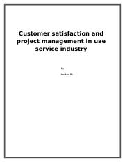 Customer satisfaction and project management in uae service industry.docx